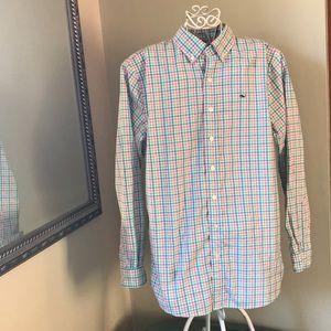 Vineyard Vines Whale Boy's Shirt Sz L 16 Boys EUC